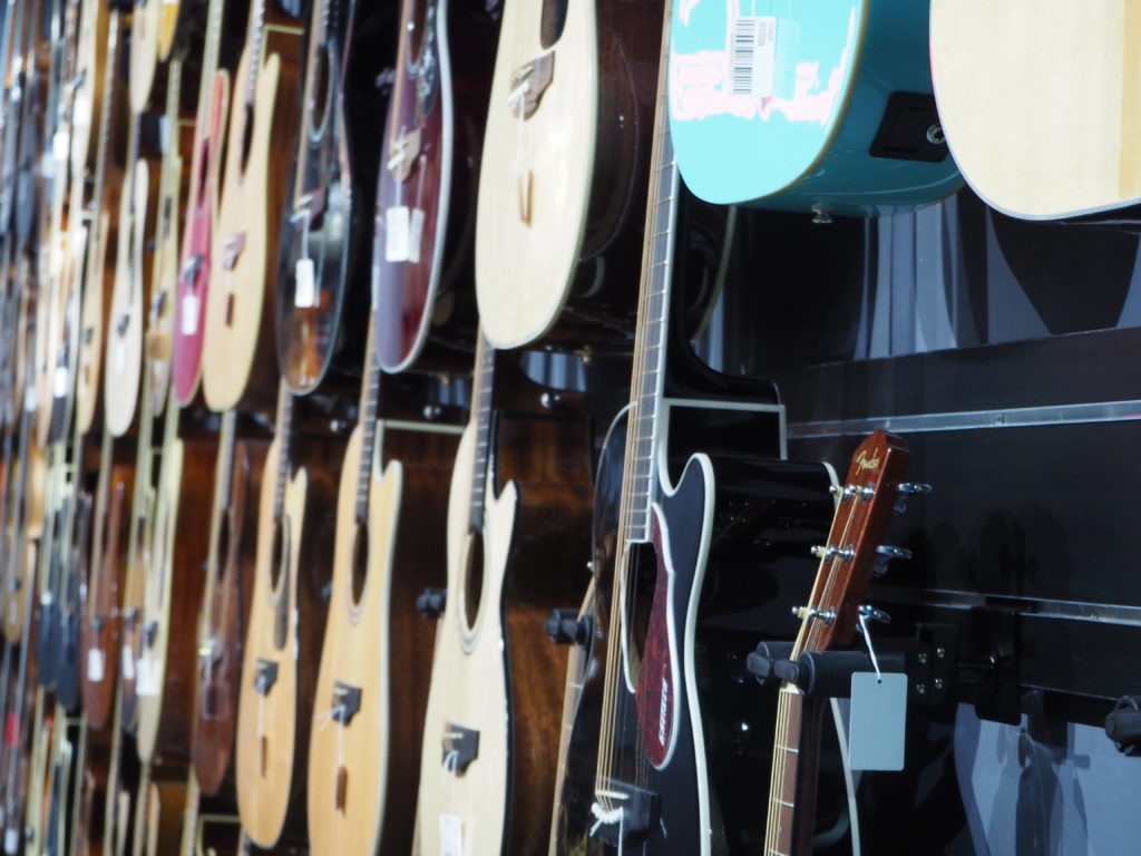 guitarras acusticas showroom