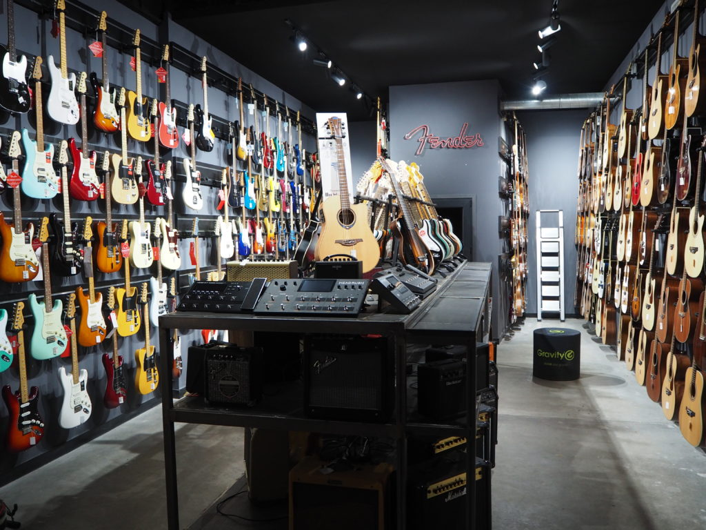 panoramica guitarras showroom