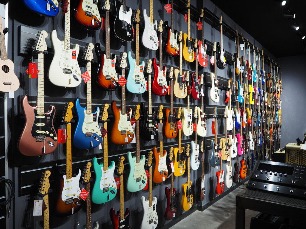 guitarras eléctricas showroom
